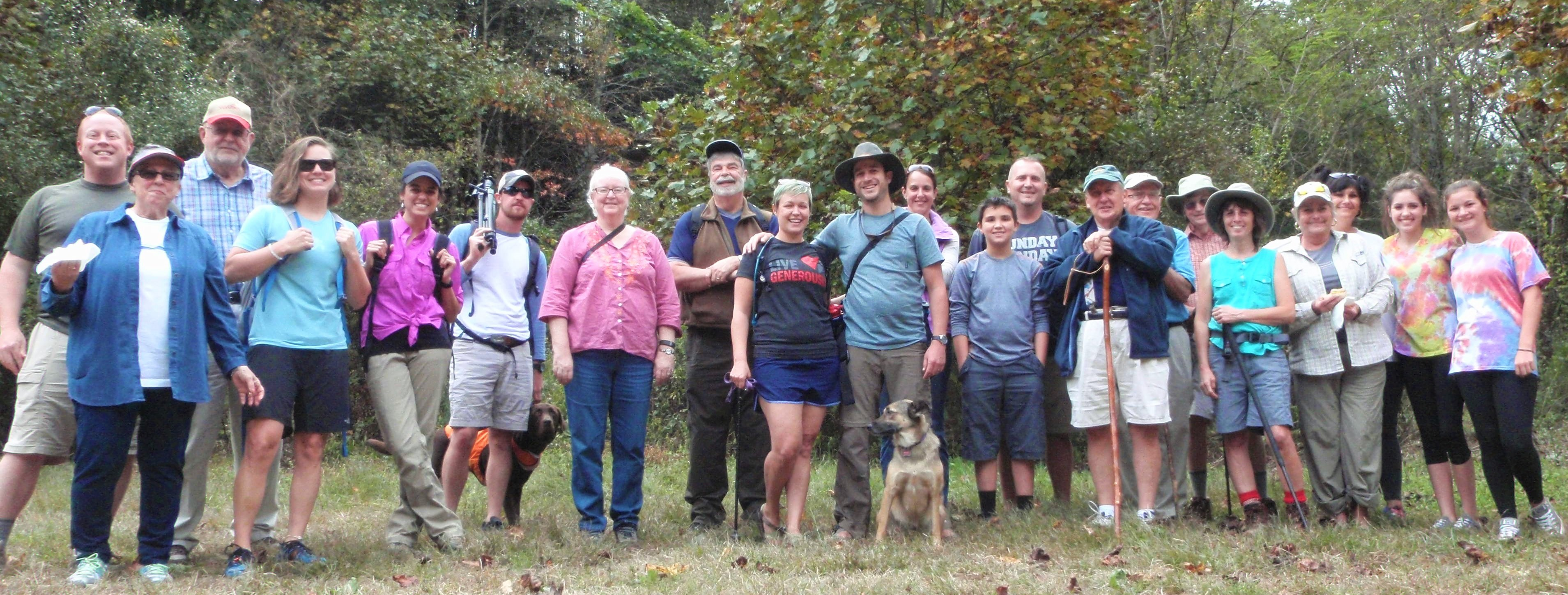 Redeemer Hikers at Laurel Falls Trailhead